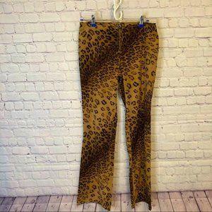 Flared leopard print XO jeans 7/8